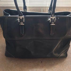 Coach Bag Authentic 5131 Hampton Black Leather